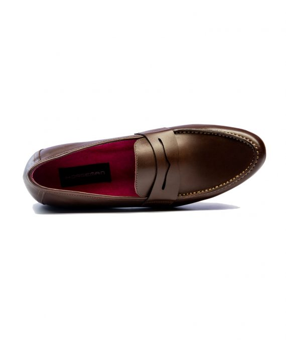 Horseman Brown Penny Loafers (Men)