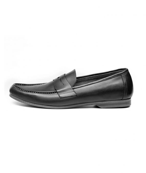 Horseman Black Penny Loafers (Men)